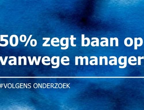 50% van medewerkers zegt baan op vanwege manager